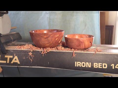 Finish Turning Cedar Bowls