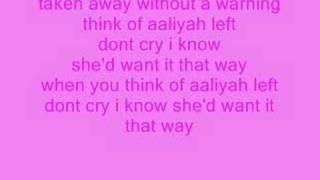 think of aaliyah lyrics
