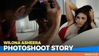 WILONA ASHEERA di Behind the Scenes Photoshoot - Male Indonesia | Model Hot Indo