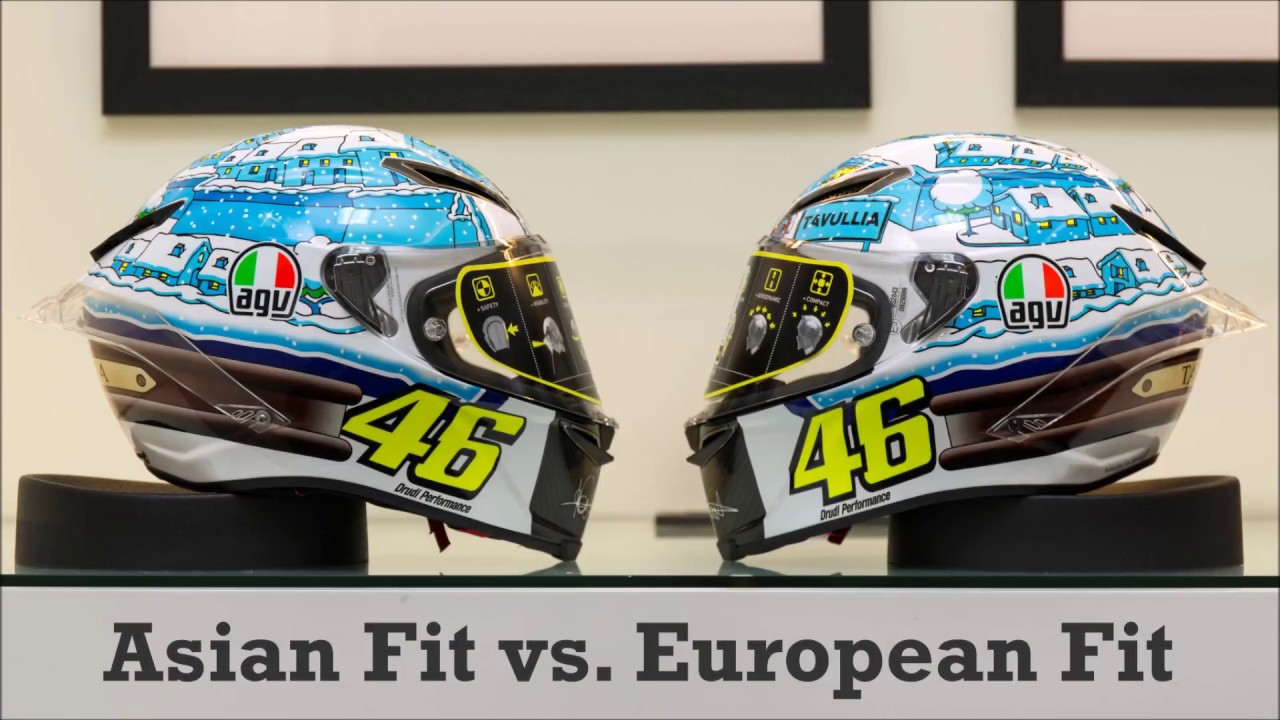 Agv Pista Gp R Asian Fit Euro Fit Weight Comparison Youtube