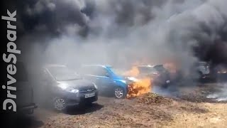 Bangalore Air Show 2019 Fire Accident: Over 100 Vehicles Burnt To Ashes