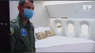 Así eran la oficina y dormitorio de Peña en el avión presidencial