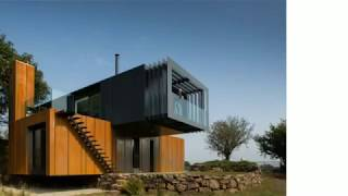 Corten Fassade von einem Containerhaus auf dem Lande in Nordirland