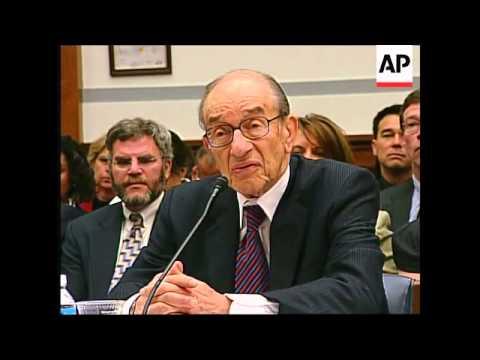 Greenspan, Snow hearing on financial crisis