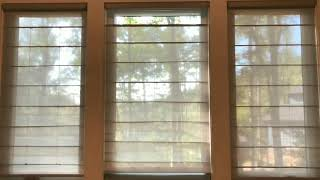 Installation of Hunter Douglas Woven Roman Shades with Powerview Demo