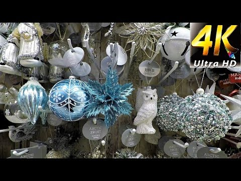 JOANN FABRIC AND CRAFTS CHRISTMAS DECOR - Christmas Shopping Decorations Ornaments (4K)