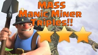⛏⚠️Mass Manic Miners!!⚠️ ⛏ 34 Miner Army Using The Golaloon System