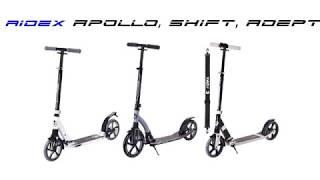 Обзор самокатов RIDEX ( Модели SHIFT, ADEPT, APOLLO) - Видео от A-Store24. com