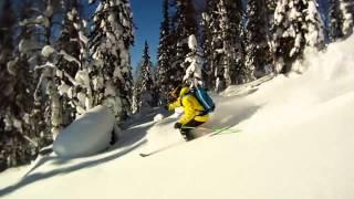 GoPro Горные лыжи Лужба Mountain skiing in Lujba(Ролик про замечательное место под названием
