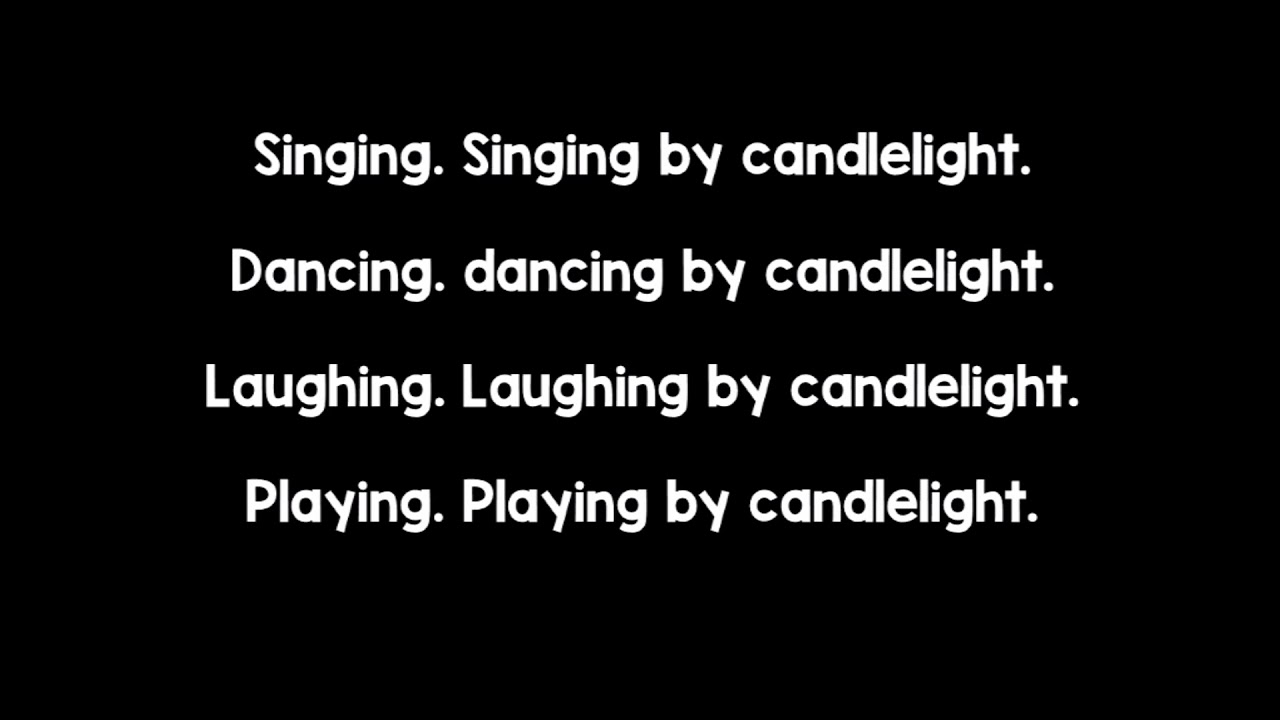 Singing by Candlelight