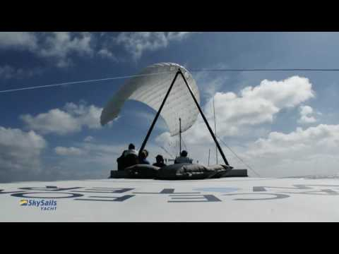 SKYSAILS YACHT kite on solar catamaran Race for Water