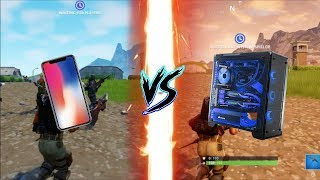 Fortnite Mobile iPad/iPhone vs PC Low/Epic Graphics Comparison [HD]