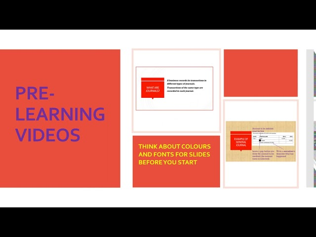 PRE LEARNING VIDEOS