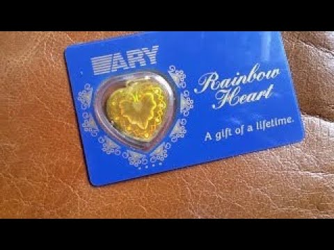 SUPER RARE ARY RAINBOW HEART KINEBAR 10 GRAM 24K 999.9 GOLD BULLION BAR