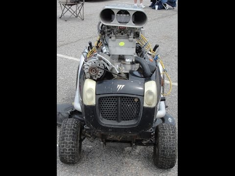 350 SMALL BLOCK CHEVY IN LAWN MOWER START...