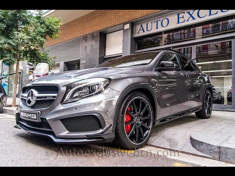 mercedes benz gla 45 amg 4matic turbo 381 c v 2016 performance gris monta a auto. Black Bedroom Furniture Sets. Home Design Ideas