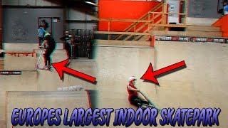 INSANE SCOOTER SESSION AT EUROPE'S BIGGEST INDOOR SKATEPARK😱😀  *Skatepark Sessions*