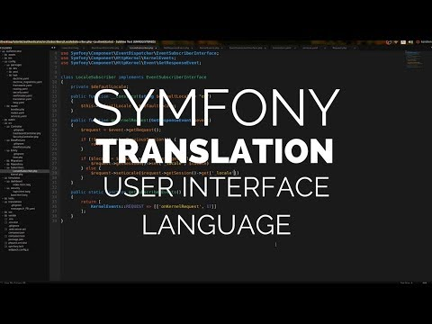 Symfony 4: Translation (Language Based On User Preference)