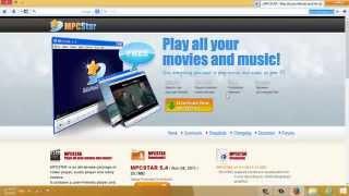 طريقة تحميل وتثبيت مشغل الفيديو والصوت mpcstar