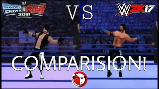 Comparison of Aj Styles Entrance:SvR11 and 2K17 mod!|BK WWE