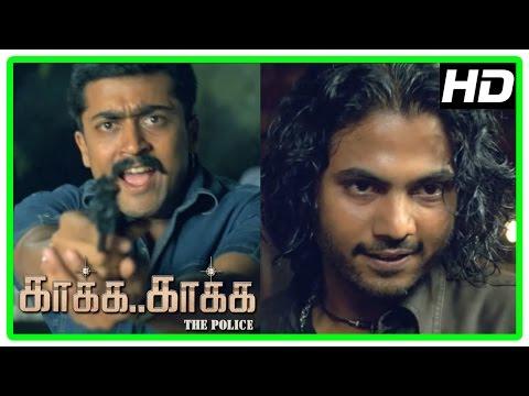 Kaaka Kaaka movie scenes | Jeevan escapes from Suriya | Jyothika | Daniel Balaji
