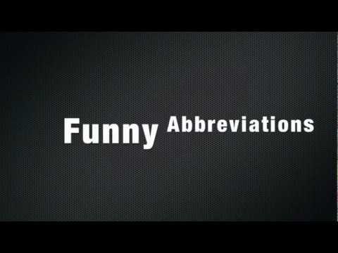 Funny Abbreviations - Ph.D
