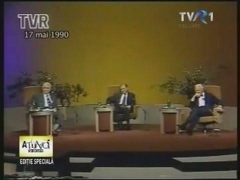 Radu Câmpeanu, Ion Raţiu şi Ion Iliescu - dezbatere alegeri prezidenţiale 1990