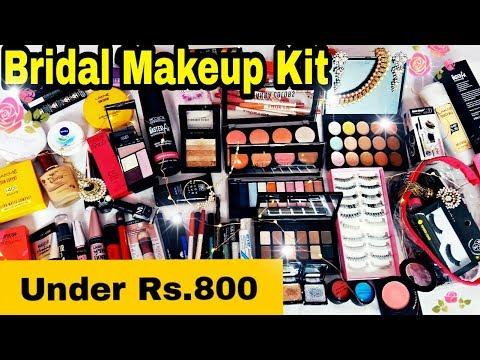 Affordable Bridal Makeup Kit    Under Rs.800    Indian Bridal Makeup Essentials in Hindi   