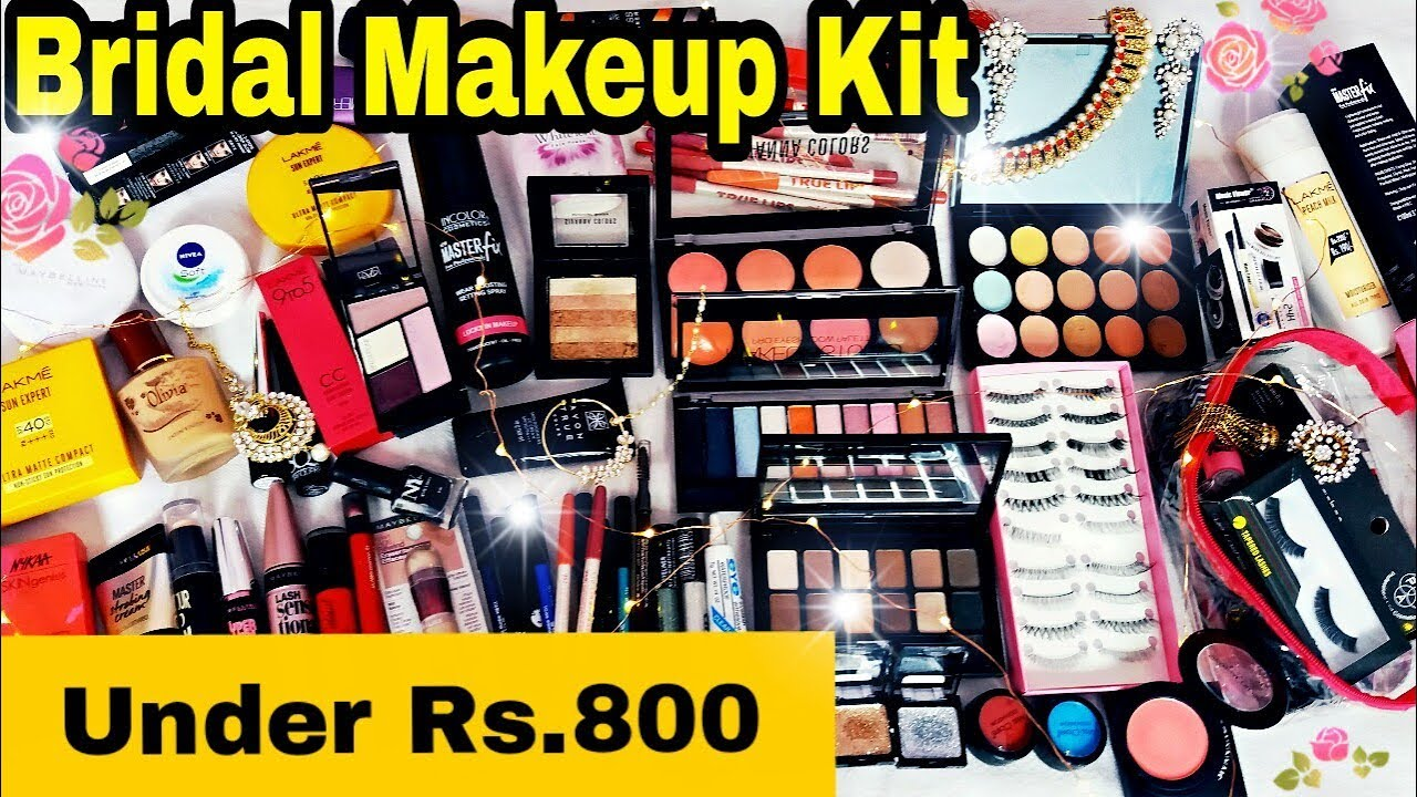 Affordable Bridal Makeup Kit || Under Rs.800 || Indian Bridal Makeup Essentials in Hindi ||