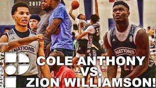 Zion williamson vs. cole anthony head to head matchup! usa 2018 vs  usa 2019!