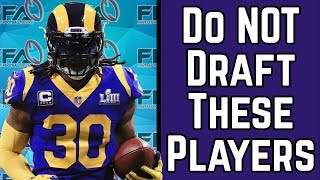 Do Not Draft These Players - 2019 Fantasy Football