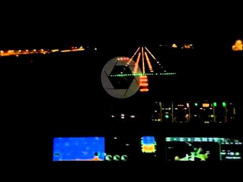 Dassault Falcon 7x landing at Dhaka at night!