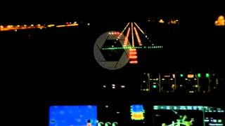 dassault falcon 7x landing at dhaka at night