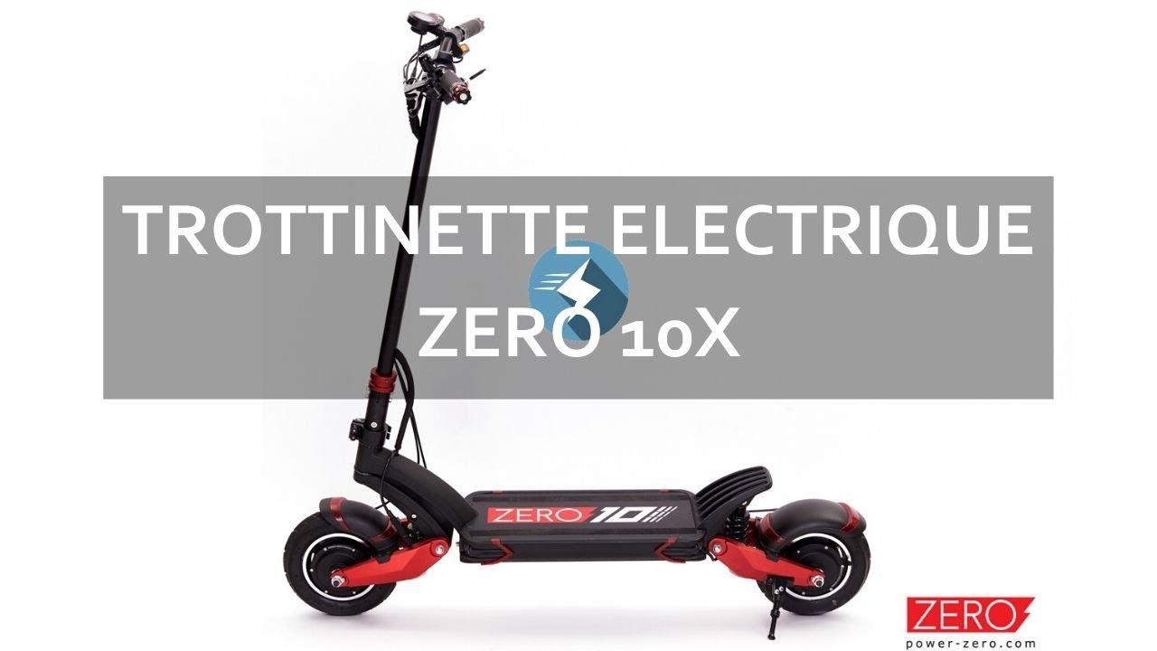 Trottinette électrique ROUGE et NOIRE Zero 10X : un monstre....