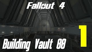 Fallout 4 Let's Play Building Vault 88 Part 1 Atrium Building
