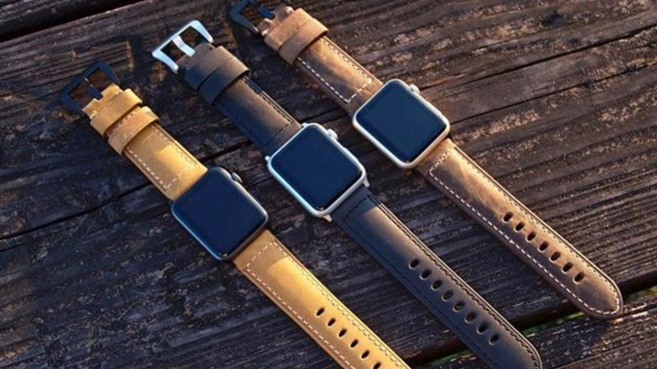 Best Leather Watch Straps >> Giveaway The Best Leather Apple Watch Band
