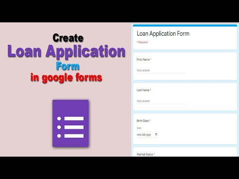 How to Make Loan Application Form using google forms free