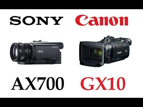 Sony FDR-AX700 vs Canon VIXIA GX10