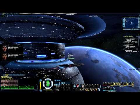 Constitution approaching space dock Starfleet
