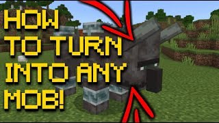 How to Turn into Any Mob In Minecraft! | PS4 Bedrock Edition