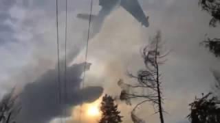 В Бурятии самолет МЧС тушит лесной пожар