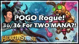 POGO Rogue! 36/36 For TWO MANA?! - Rastakhan's Rumble Hearthstone