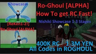 All New Codes For Ro-Ghoul | How To Get RC Fast Nishiki & NishK1 | ReKen1-2 | Roblox Showcase 2019