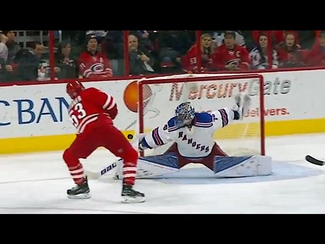 Lundqvist stretches for amazing blocker save