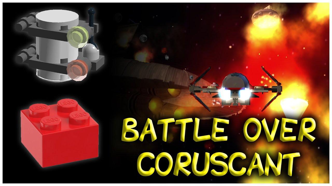 Lego Star Wars The Complete Saga Battle Over Coruscant Minikits Red Power Brick Youtube