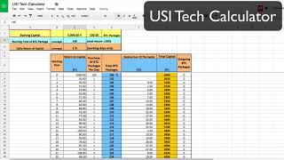 USI Tech Calculator google sheet