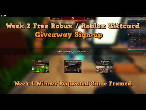 Roblox Sign In Free Play Week 2 Free Robux Roblox Giftcard Giveaway Sign Up Week 1 Winner Geejanel Requested Game Youtube