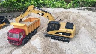RC Excavator Caterpillar 320D at work! DUMP TRUCK,รถแบคโฮบังคับระบบไฮดรอลิค 38,000 บาท