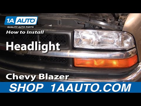 How To Install Replace Headlight Chevy S-10 S10 Blazer 98-05 1AAuto.com thumbnail