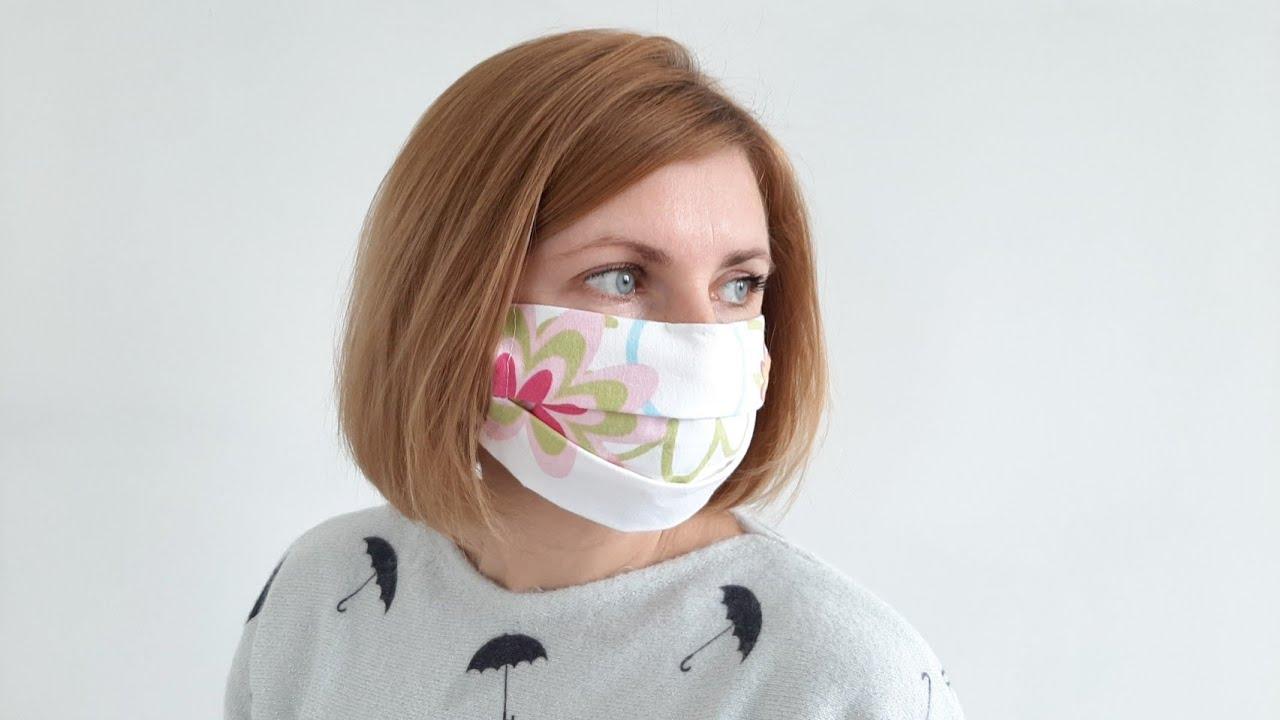 Многоразовая защитная МАСКА для лица. Как сшить маску без ...